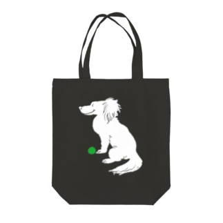 a ball is love, love is a ball.-white ver. Tote bags