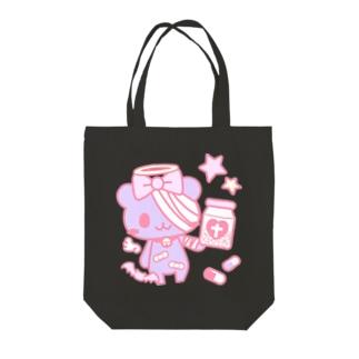 病みホリ熊紫01 Tote bags
