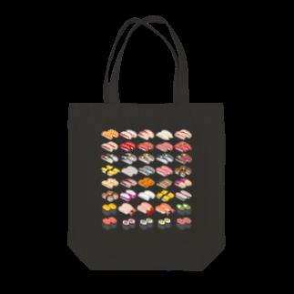 猫と釣り人のSUSHI_1B Tote bags