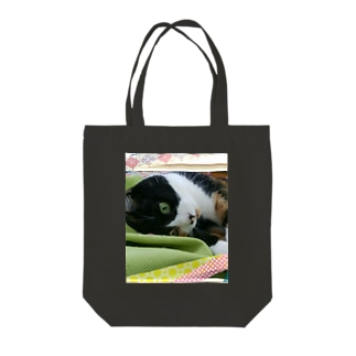 三毛猫(カラー) Tote bags