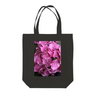 ピンクの紫陽花 Tote bags
