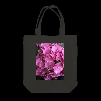 higanbanaのピンクの紫陽花 Tote bags