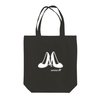 various M(white) Tote bags