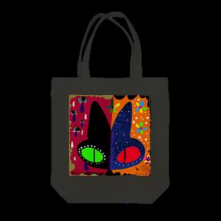 シマモリ タカコの葛藤 Tote bags