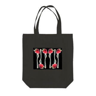 フォークで刺した苺② Tote bags