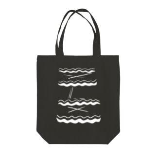ON THE BEACH Tote bags