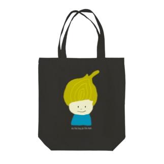 タマネギ坊や Tote bags