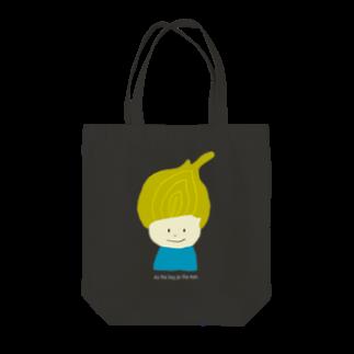 Zakuro-KayokoKawataのタマネギ坊や Tote bags