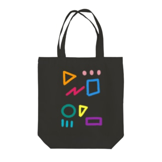 カラフル図形 Tote bags