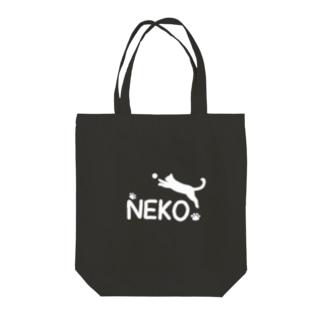 NEKO (猫)ロゴ風 Tote bags