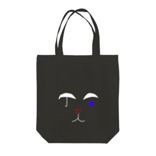 涙猫 Tote bags