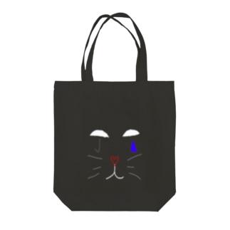 涙猫2 Tote bags