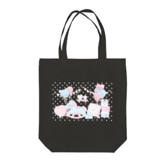 Milky babyroom Tote bags