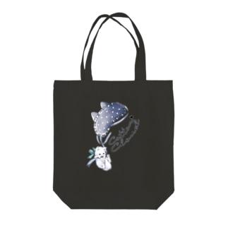 アイマスクねこちゃん Tote bags