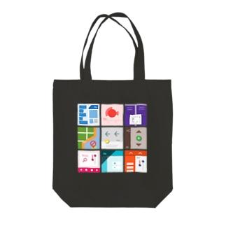 九字(濃い色用) Tote bags