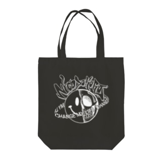 CHANGE MY LIFE ニコドクロ黒 Tote bags
