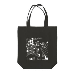 夜の町のシャボン玉 Tote bags