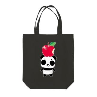 ズレぱんだちゃんのリンゴ食べたの誰? Tote bags