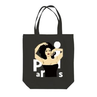 窓際のパリジェンヌ Tote bags