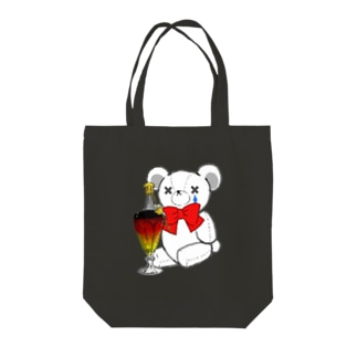 SAKEくま ロイヤル バカラ Tote bags