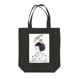 雨のアト Tote bags