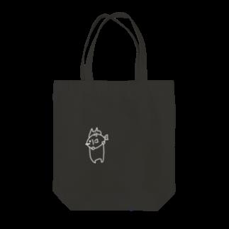 豆腐[ 'ω' ]の魚食べるねこ(白) Tote bags