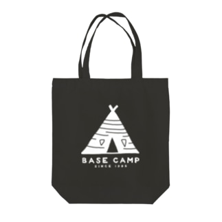 BASE テント 01 WHITE Tote bags