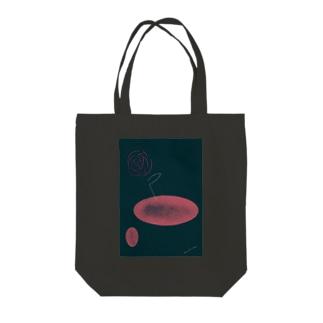 一輪の花・夜の花 Tote bags