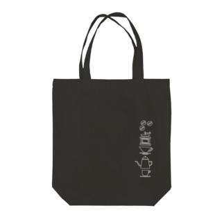 コーヒータイム(白) Tote bags