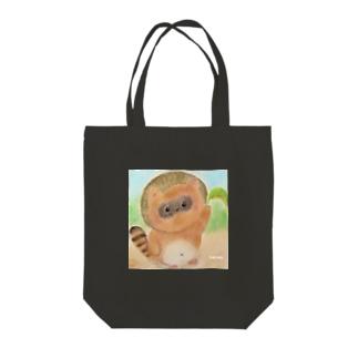 たぬき君 Tote bags
