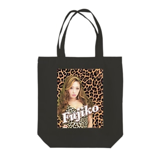 Fuzy'sgoods.ヒョウ柄 Tote bags