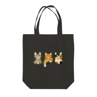 3猫アソート灰茶三毛 Tote bags