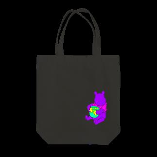 aubergのドーピングベア Tote bags