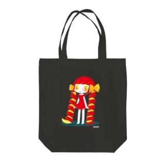 りんごの女の子 Tote bags