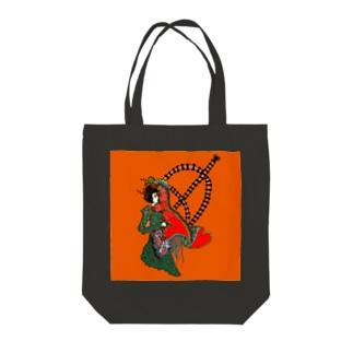恋の弓キリキリ Tote bags