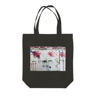 お絵かきお花 Tote bags
