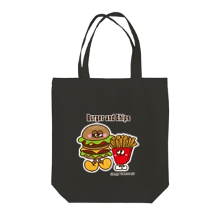 Creepy Treasures!のBurger and Chips Tote bags