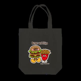 Creepy Treasures!のBurger and Chips Tote bags