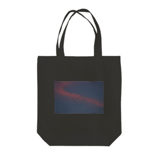 cozcozの夕焼け飛行機 Tote bags