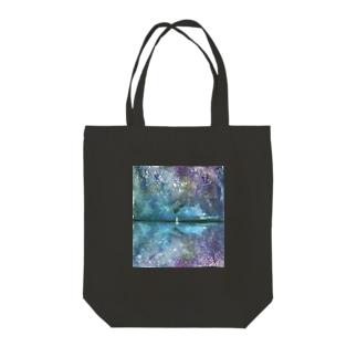 千の星空 Tote bags