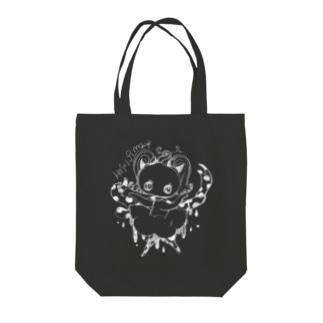 ドットリボンちゃんのぽたぽたB Tote bags