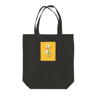 花とみつめ_黄 Tote bags