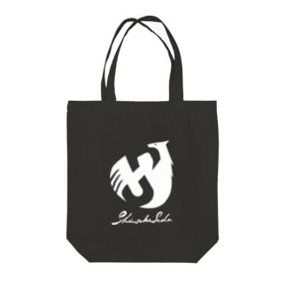 SHINSUKE SADA オフィシャルロゴグッズ 反転色 Tote bags