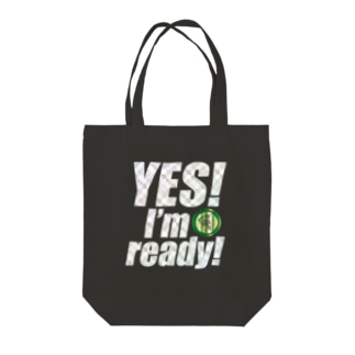 Yes! I'm ready!(キラキラバージョン) Tote bags