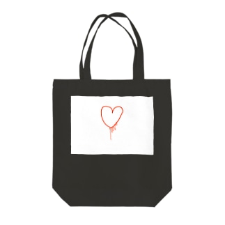 my heart Tote bags