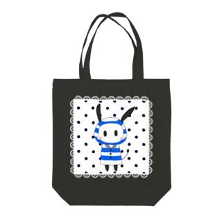レインコード 四角レース 白 Tote bags