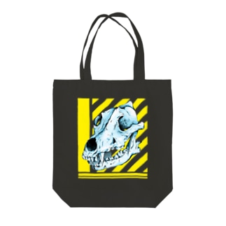 Wolf head 1 狼 Tote bags