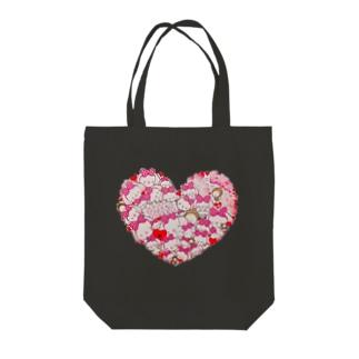 Ella Heart Tote bags