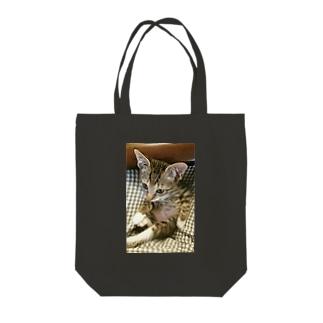 子猫シグレ Tote bags