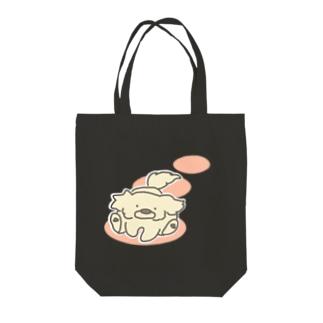 走るぷんた Tote bags